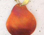 Copper Pear Ornament