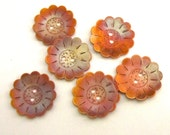 Copper Patina Flower Buttons 1 1/8 inch Decorative Buttons