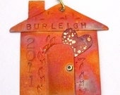 Personalized Copper House Ornament with Heart