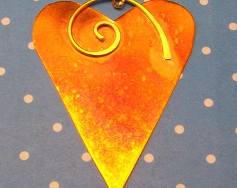 Heart Shaped Copper Ornament Home Decor