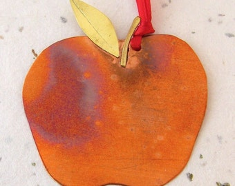 Copper Apple Ornament Teacher's Gift Back-to-School