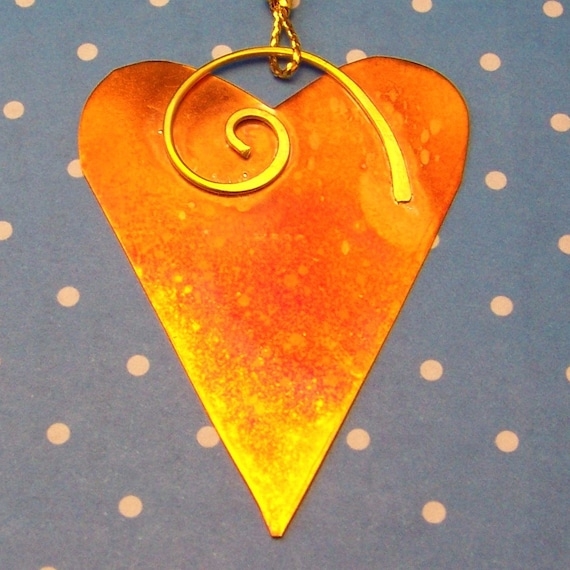 Items similar to heart shaped copper ornament home decor for Heart shaped decorations home