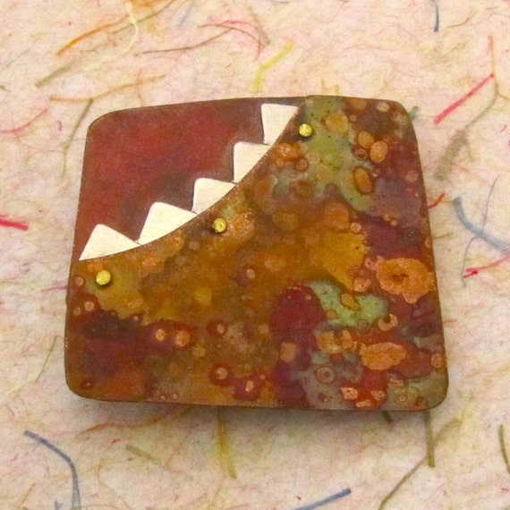 Autumn Copper Sunset Brooch