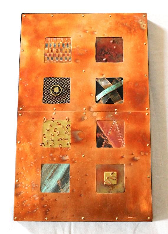 8 Squares Copper Boxes - Home Decor - Copper Wall Art