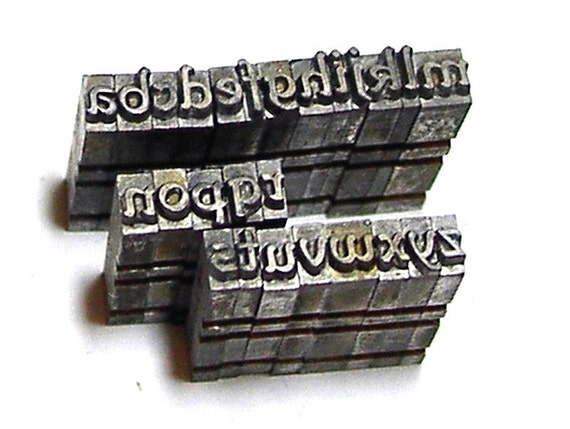 Set of Metal Letters Great for Polymer Clay Stamps a to z Lower Case Motto 14pt