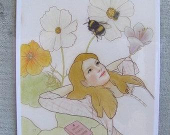 Flight of the last Bumblebees A4 Giclée Art Print by Lilly Piri