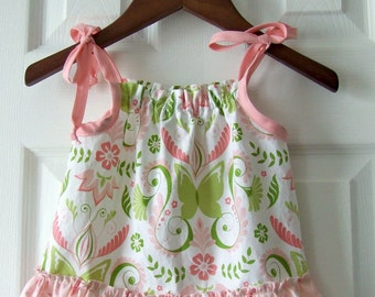 Butterfly Damask top- size 12 months READY TO SHIP