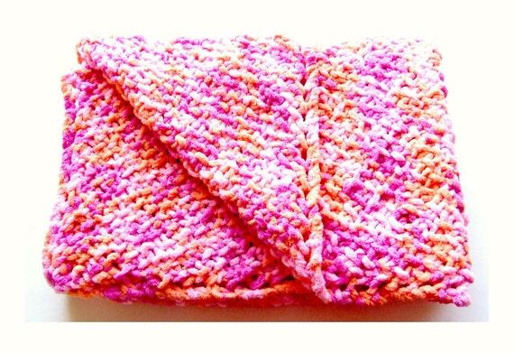 pink chenille baby blanket