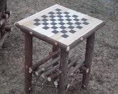 Handcrafted Rustic Cedar Log Game Table