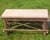 Rustic Cedar Coffee Table Maine Handcrafted Original Design