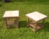Rustic Cedar End Tables