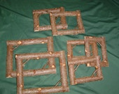 Rustic Cedar Log Cabin Picture Frames  *** Free Shipping ***
