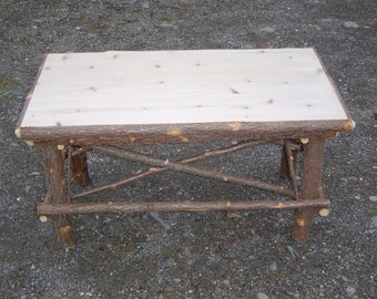 Rustic Cedar Log Coffee Table