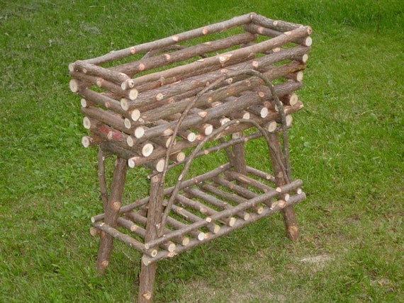 Rustic Cedar Plant Stand Maine Handcrafted Built For