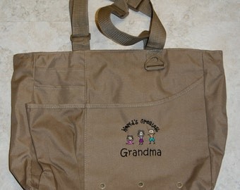 World's Greatest Grandma Multi-Pocketed Tote