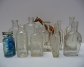 Collection of 10 vintage bottles Hair care etc. Variety group