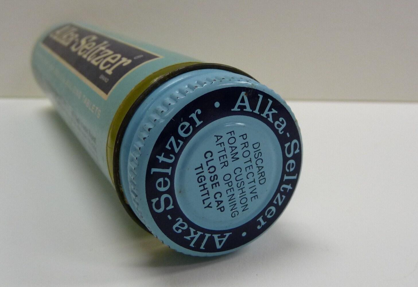 Vintage Alka Seltzer Glass Tube Bottle Medicine Heartburn