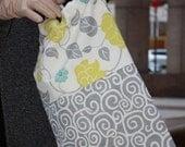 Grey Floral Travel Shoe.Bag