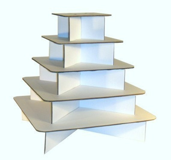 Cupcake Stand Square -WHITE- Made in USA-holds 125