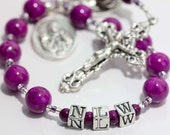 Personalized Rosary Chaplet in Purple