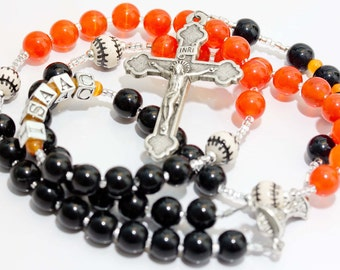 Personalized San Francisco Giants Baseball First Communion Rosary
