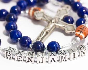 Dallas Cowboys First Communion Football Rosary