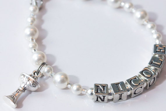 First Communion Bracelet in pearl