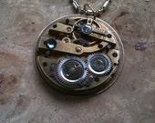 Vintage Watch Steampunk Repurposed Pendant