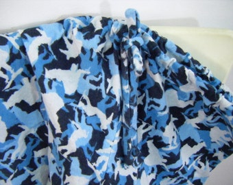 SMALL Pajama pants dorm lounge flannel boarder print  SMALL  ready to ship
