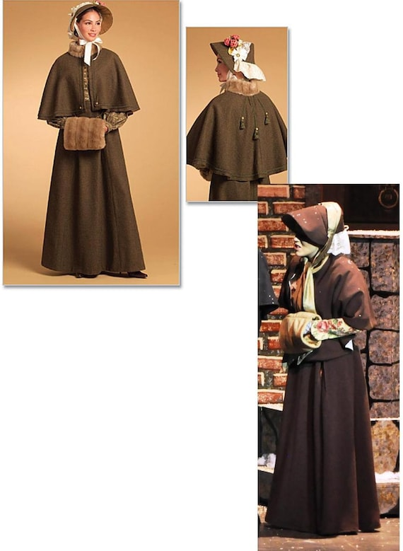 Reenactment capelet and skirt costume 1840s