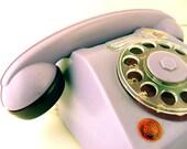 Vintage Toy Telephone Set Mehanotehnika Sweet Plum Yugoslavia