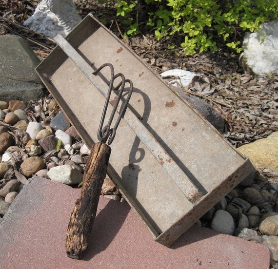 Items similar to vintage garden tool and metal tool box for Gardening tools toronto