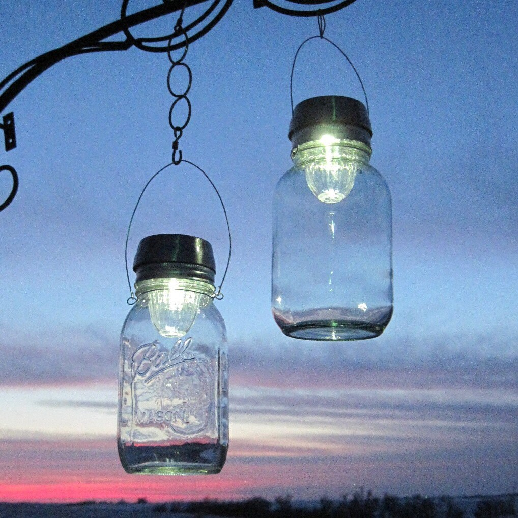 Mason Jar Solar Lights Clear Hanging Jars Solar Lamps