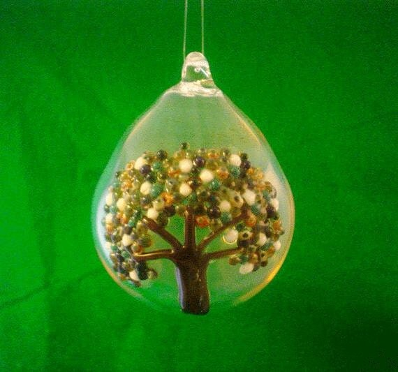 Tree Of Life Hand Blown Glass Ornament