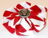 Red and White Pirate Brooch