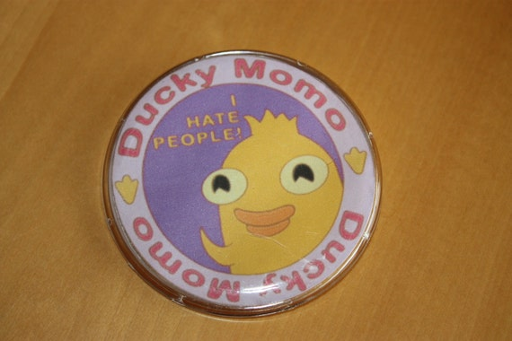 Ducky Momo Collectible Plate Button/Badge/Pin - Phineas and Ferb