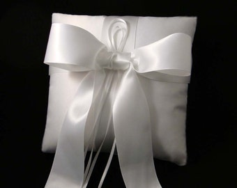 Gabriella Ring Bearer Pillow in White on White.  Choose Your Colors.