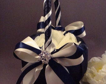 Fifth Avenue Wedding Flower Girl Basket - Choose Colors To Match Your Ceremony