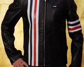 Easy Rider Peter Fonda WYATT Biker Style Expensive Cow Hide Leather Jacket in all Sizes