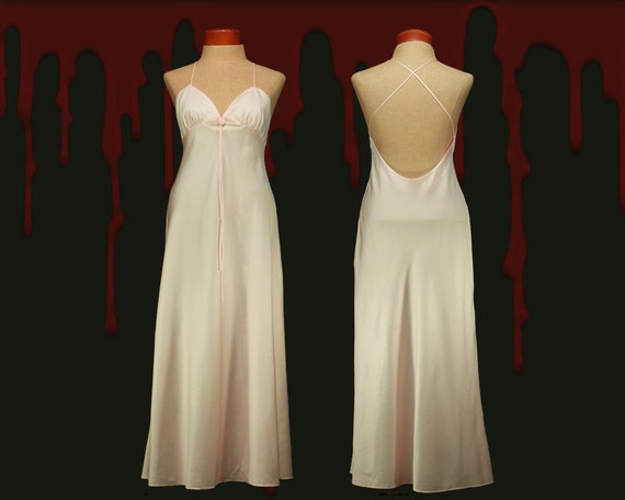 Vintage Carrie Costume Stephen King Bias Cut Prom Dress