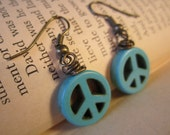 Peace turquoise earrings