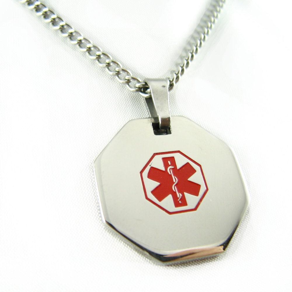 Medic Alert Necklace: Chandeliers & Pendant Lights