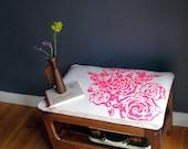 Handprinted Bench - Mid century modern