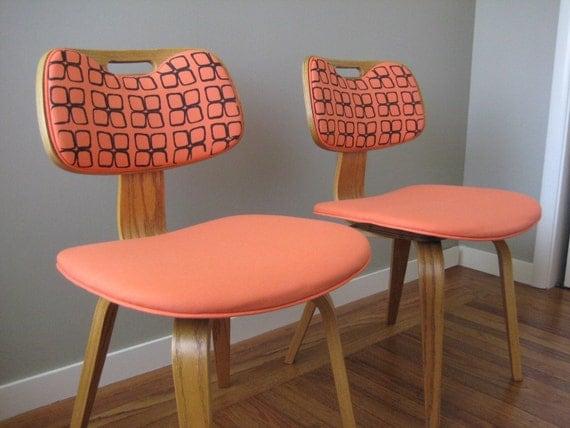 Peach Flower Chairs
