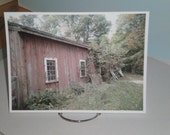 Old Barn Photo - Photo Print - Red Barn - Fine Art Photograph - 8 x 10 Photo - Forlorn Barn - Country Barn Photo