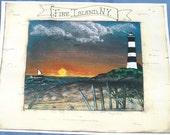 Fire Island Lighthouse Print - New York - Lighthouse Print - 8 x 11 - Fire Island Decor - Beach Scene - Ocean View - Fine Art Print