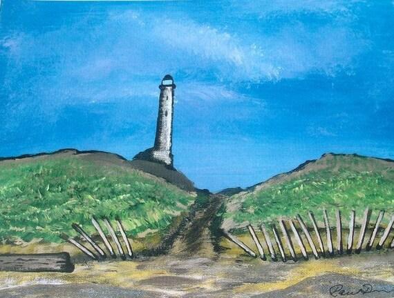 Light House Print - Lighthouse On The Beach - Fine Art Limited Edition Print - 10 x 13 Print - Lighthouse Decor - Beach Dunes - Summer Beach