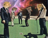 A Congregation of the Lords 6.5x10 Fine Art Collage Print