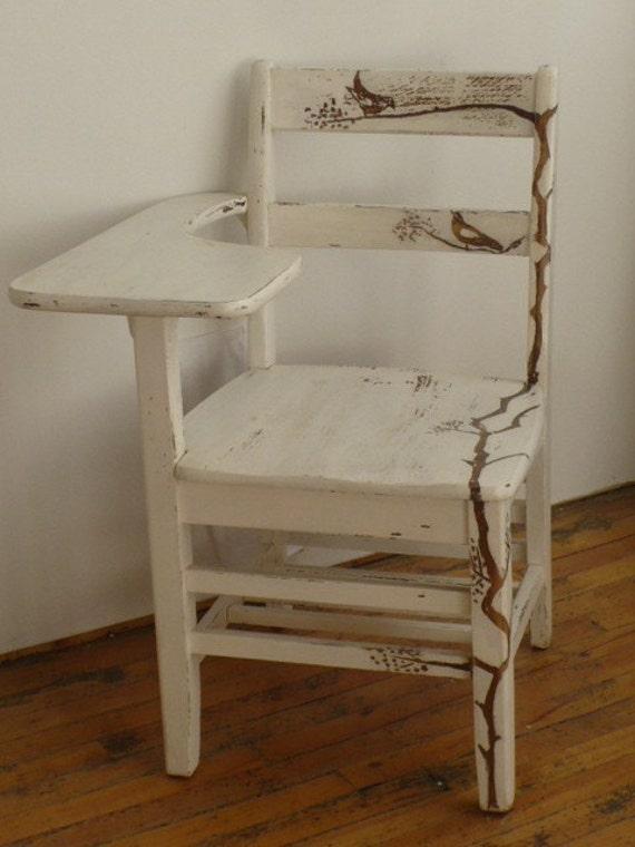 upcycled vintage school desk chair. Black Bedroom Furniture Sets. Home Design Ideas