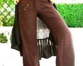Raw Silk Flare Pants Hippie love M/L